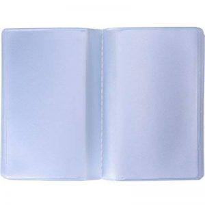 2 Pièces Pochette de Carte en Plastique Porte-Cartes de Crédit avec 10 Pages 10 Emplacements et 10 Pages 20 Emplacements, Transparent de la marque Shappy image 0 produit