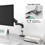 """【2018 Nouvelle Version】Support Moniteur SLYPNOS YS-GM112C Support Ecran Support de Bureau pour Ecran PC de 15""""- 27""""Support Design Professionnel Ajustable Ressort à Gaz Alliage d'Aluminum-Noir de la marque SLYPNOS image 4 produit"""