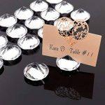 20x stand acrylique diamant cristal Diamètre 4cm support carte photo mémo de la marque surepromise image 1 produit