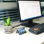 4 PCS Porte-Cartes de Visite, Présentoirs de Carte de Visite et Support Téléphone en Métal Mesh pour le Bureau, Noir de la marque EKICHE image 3 produit