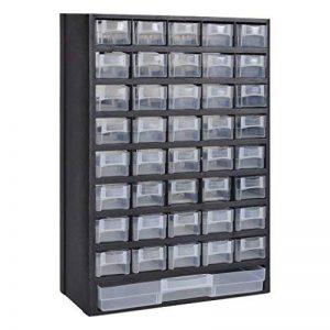 41-Tiroirs Armoire/module/casier de rangement plastique de la marque vidaXL image 0 produit