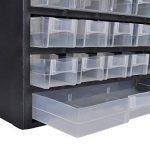 41-Tiroirs Armoire/module/casier de rangement plastique de la marque vidaXL image 1 produit