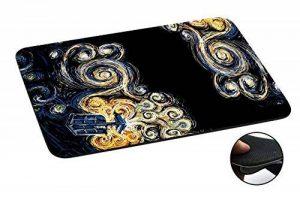 452 - Doctor Who Tardis Van Gogh Canvas Design Macbook PC Laptop Anti-slip Tapis de Souris Mousepad Mouse Mat Tpu Leather-Slim 3MM de la marque Cellbell LTD image 0 produit
