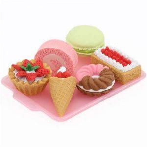 6 gommes Iwako en caoutchouc, gâteau, dessert, beignet de la marque Iwako image 0 produit