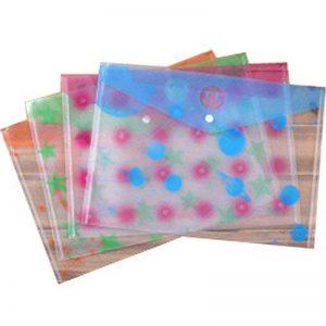 Anqeeso Porte-documents avec bouton pression, couleurs assorties clair Poly enveloppe File Folder pour bureau école Students-a4Size-set de 12 de la marque Anqeeso image 0 produit