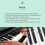 Autocollants pour notes de piano + clavier pour 49 | 61 | 76 | 88 touches + Ebook gratuit | kit complet premium pour touches noires + blanches | do-ré-mi-fa-sol-la-si | instructions en français de la marque Belfort image 3 produit