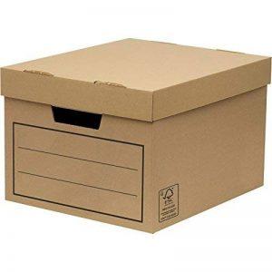 Bankers Box 00154 Paquet de 10 Caisses de Rangement multi-usage standard/boîte d'archives avec couvercle Marron de la marque BANKERS BOX image 0 produit