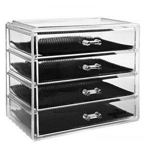 Boîte à bijoux, ISWEES Cosmétiques Organisateur Grand Rangement 4 niveaux Maquillage - 4 tiroirs et séparateurs amovibles - Acrylique (4 Niveaux - 4 Tiroirs) de la marque ISWEES image 0 produit