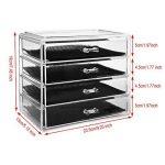Boîte à bijoux, ISWEES Cosmétiques Organisateur Grand Rangement 4 niveaux Maquillage - 4 tiroirs et séparateurs amovibles - Acrylique (4 Niveaux - 4 Tiroirs) de la marque ISWEES image 2 produit
