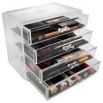 Boîte à bijoux, ISWEES Cosmétiques Organisateur Grand Rangement 4 niveaux Maquillage - 4 tiroirs et séparateurs amovibles - Acrylique (4 Niveaux - 4 Tiroirs) de la marque ISWEES image 3 produit