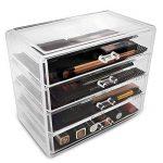 Boîte à bijoux, ISWEES Cosmétiques Organisateur Grand Rangement 4 niveaux Maquillage - 4 tiroirs et séparateurs amovibles - Acrylique (4 Niveaux - 4 Tiroirs) de la marque ISWEES image 4 produit