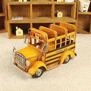 Bwlzsp 1 PCS Handmade rétro Campus Bus modèle Bureau à Domicile Ornement Stylo conteneur Carte de Visite boîte Pendentif LU622151 de la marque Bwlzsp image 0 produit