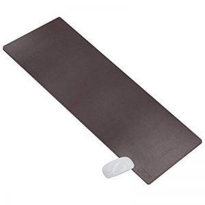 cacoy Tapis de souris en cuir PU - 1000 x 400 mm Grand Bureau Pad et Gaing Tapis de souris Imperméable Surface lisse en cuir PU et Anti-dérapant en Base Mousepad Mat - Marron Foncé de la marque Cacoy image 0 produit