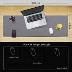cacoy Tapis de Souris en Cuir PU - 1000 x 400 mm Grand Bureau Pad et Gaing Tapis de Souris Imperméable Surface Lisse en Cuir PU et Anti-Dérapant en Base Mousepad Mat - Gris de la marque Cacoy image 1 produit