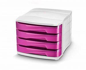 Cep Bloc de Classement 4 Tiroirs Gloss bicolores 394G BI Blanc/Rose Pepsy de la marque Cep image 0 produit