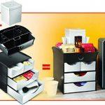 CEP Take A Break - Range-dosettes - Module de Rangement 2 Petits tiroirs + 2 Grands tiroirs - 8-211 - Plastique - Noir et Gris métal - 18,6 x 18,5 x 17,5 cm de la marque CEP Take A Break image 3 produit