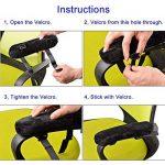 Chaise en mousse visco-élastique Accoudoir de surface lisse et soyeux pour peut Réduire la pression de la elbow-super Coude Support, noir (Set de 2pièces) - Petit de la marque ooage image 3 produit
