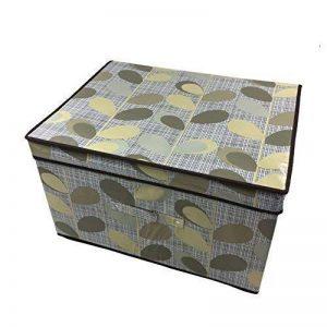 clair FEUILLE FEUILLES MARRON BLANC GRAND transport rabattable Coffre Rangement Boite 50x30x40cm de la marque Storage Chest image 0 produit