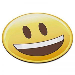 Coussin original Smiley Face circulaire PC Ordinateur Tapis de souris Pad-Funny Happy de la marque Gift Base image 0 produit