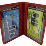Cuir de veau porte cartes de crédit MJ-Design-Germany en 3 différentes couleurs de la marque myledershop image 1 produit