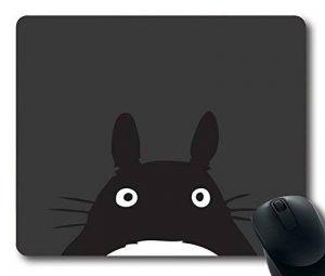 Custom Gaming Mouse Pad avec Totoro Minimal Art Taille standard en caoutchouc néoprène antidérapante 22,9cm (220mm) x 17,8cm (180mm) x 1/20,3cm (3mm) de bureau Tapis de souris pour ordinateur portable Tapis de souris confortable ordinateur Tapis de image 0 produit
