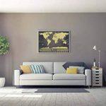 Deluxe Scratch-Off Travel Map Poster–avec drapeaux de pays et le monde de 50Plus Visités touristiques, suivi de vos Aventures (Noir et Doré avec argent montagnes–83,8x 58,4cm) de la marque ZEZAZU image 2 produit