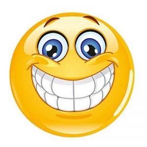 #detailverliebt Smiley Tapis de Souris I DV 343I Ø 22cm Rond I Jaune de la marque #detailverliebt image 0 produit