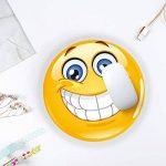 #detailverliebt Smiley Tapis de Souris I DV 343I Ø 22cm Rond I Jaune de la marque #detailverliebt image 1 produit