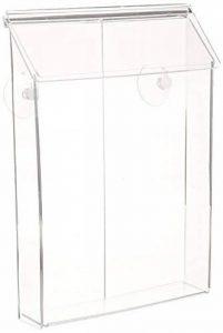 Displays2go extérieur Porte-revue pour dépliants et papiers, Prenez une boîte avec ventouses (Vopd85cl) de la marque Displays2go image 0 produit