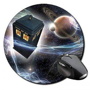 Doctor Who Tardis B Tapis De Souris Ronde Round Mousepad PC de la marque MasTazas image 0 produit