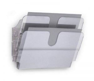 Durable 1709014400 Flexiplus Présentoir Mural Composé de 2 Corbeilles Format A4 Paysage Coloris Transparent de la marque Durable image 0 produit