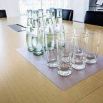Durable 711119 Duraglas Sous-main Simple Format Conférence 42 x 30 cm Bords Rainurés Transparent de la marque Durable image 2 produit