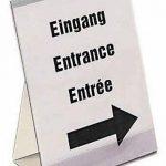 Durable 859419 Présentoir de Table Mixte Porte - Affiche Porte - Documents Format A4 Incliné Transparent de la marque Durable image 2 produit