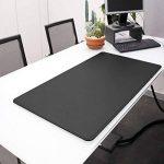 Eglooh - HERMES - Sous-main pour bureau en cuir Noir avec angles ronde et antidérapant, cm 65x45, produit en Italie de la marque eglooh image 3 produit