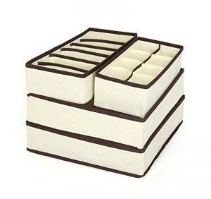 Elite99 4 Pièces Boîtes de rangement Durable pliable tiroir range-placards pour Sous- Vètements/Culotte/Foulard/Lingerie/Soutien-Gorge/Chaussettes gain de place de la marque Elite99 image 0 produit