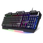 EMPIRE GAMING CLAVIER RGB GAMER EMPIRE K600 CHASSIS METALLIQUE NOIR EQUIPE DE 105 TOUCHES SEMI-MECANIQUE DONT 19 TOUCHES ANTI-GHOSTING / 12 RACCOURCIS MULTIMEDIA / RETRO-ECLAIRAGE RGB A LUMINOSITE REGLABLE MODE GAMING AVEC TOUCHE WINDOWS DESACTIVABLE de l image 1 produit