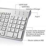 Ensemble Clavier et Souris Sans Fil,Clavier Sans Fil Compact avec Pavé Numérique et Souris Silencieuse Ergonomique 2400 DPI pour PC, Ordinateur de Bureau, Smart TV, Ordinateur Portable, Windows XP/Vista/7/8/10 (disposition AZERTY) by BJL Argent de la marq image 3 produit