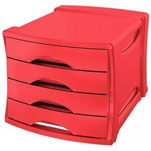 Esselte Europost Bloc de Classement, 4 Tiroirs, Rouge, VIVIDA, 623960 de la marque Esselte Group image 0 produit