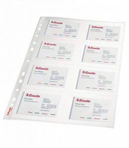 Esselte Pochette Perforée, Format Carte de Visite, Transparent, Lisse, A4, Polypropylène 105 Microns, Lot de 10, 78930 de la marque Esselte Group image 0 produit