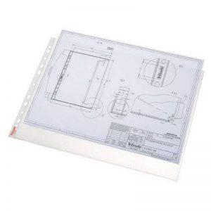 Esselte Pochette Perforée, Transparent, Grainé, A3 Paysage, Polypropylène 85 Microns, Lot de 50, 55230 de la marque Leitz image 0 produit