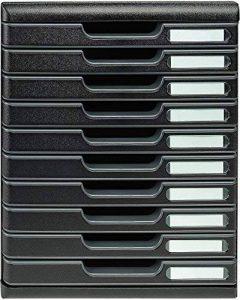 Exacompta-302414D-Modulo Eco Black Module de Classement 10 Tiroirs Noir de la marque Exacompta image 0 produit