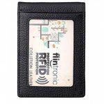 flintronic Bifold Portefeuille en Cuir, Mince RFID Blocage Porte Carte de Crédit,Pince à Billets Homme de la marque flintronic image 4 produit