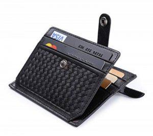 flintronic Porte Homme Cuir véritable Portefeuille, RFID NFC Blocage Bifold avec poche à monnaie pour hommes, Porte passeport et organiseur de voyage par de la marque flintronic image 0 produit