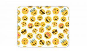 Funky emoji visages Tapis de souris Pad–Smiley Face enfants adolescents Cadeau PC Computer # 8401 de la marque Destination Vinyl Ltd image 0 produit