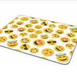 Funky emoji visages Tapis de souris Pad–Smiley Face enfants adolescents Cadeau PC Computer # 8401 de la marque Destination Vinyl Ltd image 3 produit
