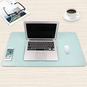 GENORTH Mousepad Tapis de Souris Grand with Wireless Charger pour Gaming & Office Mauspad sous Main en Cuir PU Étanche 800 x 400mm (Vert) de la marque GENORTH image 0 produit