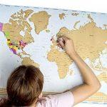 Globe Quest Carte du monde à gratter pour faire apparaître les pays visités en couleur – Cadeau idéal pour les voyageurs – Édition de luxe 60 x 90 cm de la marque Globe Quest Maps image 3 produit