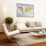 Globe Quest Carte du monde à gratter pour faire apparaître les pays visités en couleur – Cadeau idéal pour les voyageurs – Édition de luxe 60 x 90 cm de la marque Globe Quest Maps image 4 produit