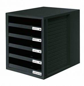 HAN 1401-13 Module de rangement 5 tiroirs ouverts pour C4, 275 x 320 x 330 mm (Noir) (Import Allemagne) de la marque HAN image 0 produit