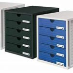 HAN 1450-13 Module de rangement 5 tiroirs fermés pour C4, 275 x 320 x 330 mm (Noir) (Import Allemagne) de la marque HAN image 1 produit